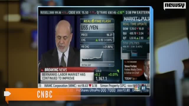 News video: Bernanke: Fed Bond Buying Will Continue Until Next Year